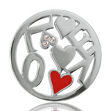 Nikki Lissoni Chaotic Love Silver Plated 33mm Coin, MPN: C1050SM UPC: 8718627461525