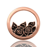 Nikki Lissoni Midnight Roses Rose Gold Plated 23mm Coin, MPN: C1053RGS UPC: 8718627461600