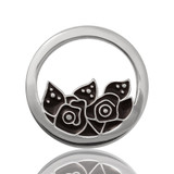 Nikki Lissoni Midnight Roses Silver Plated 23mm Coin, MPN: C1053SS UPC: 8718627461617