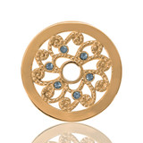 Nikki Lissoni Curly Flower Gold Plated 23mm Coin, MPN: C1072GS UPC: 8718627461921