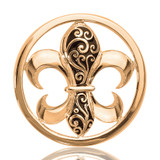 Nikki Lissoni French Curly Lilly Gold Plated 33mm Coin, MPN: C1080GM UPC: 8718627462157