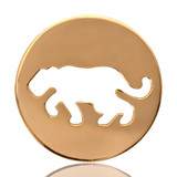 Nikki Lissoni Crouching Tiger Gold Plated 33mm Coin, MPN: C1082GM UPC: 8718627462195