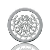 Nikki Lissoni Bouquet Of Memories Silver Plated 23mm Coin, MPN: C1083SS UPC: 8718627462201