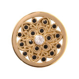 Nikki Lissoni Ancient Flower Gold Plated 23mm Coin, MPN: C1091GS UPC: 8718627462287