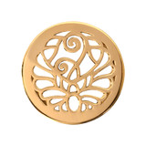 Nikki Lissoni Fantasy Peacock Gold Plated 23mm Coin, MPN: C1107GS UPC: 8718627462461