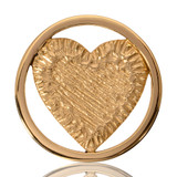 Nikki Lissoni Carved Heart Gold Plated 33mm Coin, MPN: C1115GM UPC: 8718627462560