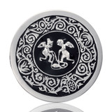 Nikki Lissoni Playful Angels Silver Plated 33mm Coin, MPN: C1138SM UPC: 8718627462843