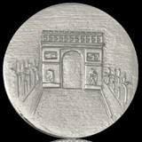 Nikki Lissoni Paris Arc De Triomphe Silver Plated 43mm Coin, MPN: C1140SL UPC: 8718627462874