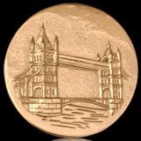 Nikki Lissoni London Tower Bridge Gold Plated 43mm Coin, MPN: C1141GL UPC: 8718627462881