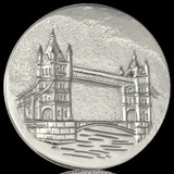 Nikki Lissoni London Tower Bridge Silver Plated 43mm Coin, MPN: C1141SL UPC: 8718627462898