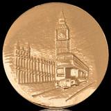 Nikki Lissoni London Big Ben Gold Plated 43mm Coin, MPN: C1142GL UPC: 8718627462904