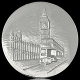 Nikki Lissoni London Big Ben Silver Plated 43mm Coin, MPN: C1142SL UPC: 8718627462911