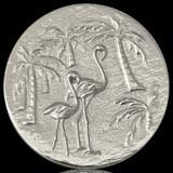 Nikki Lissoni Miami South Beach Silver Plated 43mm Coin, MPN: C1147SL UPC: 8718627463017