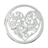 Nikki Lissoni Tribal Heart Silver Plated 33mm Coin, MPN: C1148SM UPC: 8718627463024