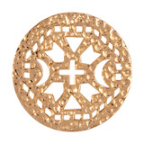 Nikki Lissoni Ancient Cross Gold Plated 33mm Coin, MPN: C1176GM UPC: 8718627464649