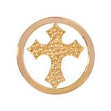 Nikki Lissoni Cross Gold Plated 23mm Coin, MPN: C1185GS UPC: 8718627464878