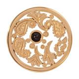 Nikki Lissoni Black Gold Paisley Gold Plated 33mm Coin, MPN: C1248GM UPC: 8718627465882