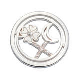 Nikki Lissoni Lucky Treasure Coin Silver Plated 23mm Coin, MPN: C1681SS UPC: 8719075308448