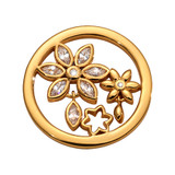 Nikki Lissoni Bouquet Wildflowers Coin Gold Plated 23mm Coin, MPN: C1688GS UPC: 8719075308516