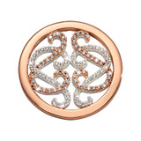 Nikki Lissoni Embrace Lace Coin Rose Gold/Silver Plated 23mm Coin, MPN: C1697RGS UPC: 8719075308639