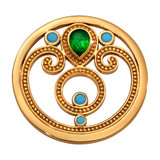 Nikki Lissoni Emerald Dream Coin Gold Plated 33mm Coin, MPN: C1700GM UPC: 8719075308660