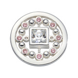 Nikki Lissoni Pink Mirror Coin Silver Plated 23mm Coin, MPN: C1703SS UPC: 8719075308691