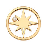 Nikki Lissoni Falling Pearl Star Coin Gold Plated 23mm Coin, MPN: C1726GS UPC: