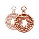 Nikki Lissoni Counting Love Stars Earring Coins Rose Gold Plated 15mm Coin, MPN: EAC2081RGS UPC: 8719075308820