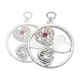 Nikki Lissoni My Love Is Pure Earring Coins Silver Plated 19mm Coin, MPN: EAC2082SM UPC: 8719075308837