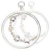 Nikki Lissoni Around The World Earring Coins Silver Plated 23mm Coin, MPN: EAC2086SL UPC:
