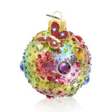 """Jay Strongwater Jeweled 3"""" Glass Ornament, MPN: SDH20003-250"""