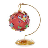 Jay Strongwater 25th Anniversary Jeweled Glass Ornament with Stand, MPN: SDH20001-250