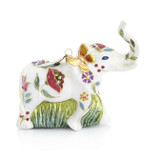 Jay Strongwater Floral Elephant Glass Ornament, MPN: SDH2073-202