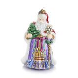 Jay Strongwater Victorian Santa Glass Ornament, MPN: SDH20010-250