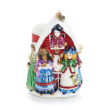 Jay Strongwater Eight Maids A-Milking Glass Ornament, MPN: SDH20005-250
