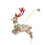 Jay Strongwater Comet Reindeer Glass Ornament, MPN: SDH20011-250