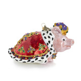 Jay Strongwater Royal Piggy Glass Ornament, MPN: SDH20015-250
