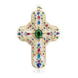 Jay Strongwater Baroque Cross Glass Ornament, MPN: SDH20007-250
