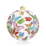 Jay Strongwater 2020 Opulent Butterflies Glass Ornament - Signed LE, MPN: SDH20000-256