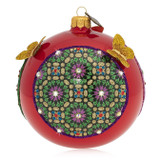 """Jay Strongwater Pattern and Butterfly 4"""" Glass Ornament - Signe, MPN: SDH2320-250S"""