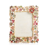 """Jay Strongwater Cluster Floral 5"""" x 7"""" Picture Frame, MPN: SPF5859-250"""