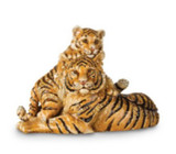 Jay Strongwater Chelle & Clara Mom/Baby Tiger Figurine, MPN: SDH1846-280