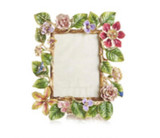 """Jay Strongwater Dutch Floral 5"""" x 7"""" Picture Frame, MPN: SPF5879-256"""
