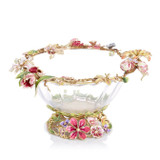 Jay Strongwater Dutch Floral Glass Bowl, MPN: SDH2545-256