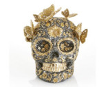 Jay Strongwater Pave Skull with Butterflies Figurine, MPN: SDH1909-270
