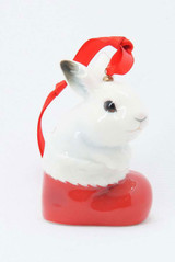 Franz Porcelain Holiday Classic Bunny Ornament, MPN: FZ02379