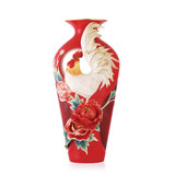 Franz Porcelain Good Luck Crowing Rooster Rooster Vase, MPN: FZ03577