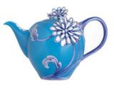 Franz Porcelain Plain Tricolour Chrysanthemum Teapot, MPN: CP00023