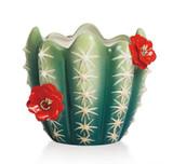 Franz Porcelain Wild Wonder Cactus Candle Holder, MPN: FZ02184