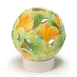 Franz Porcelain Spa Collection Gingko Flower Tea Light Holder, MPN: FZ01942